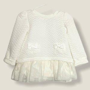 Catherine Malendrino Mini White Baby Dress 24M